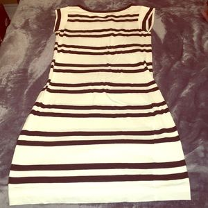 Black and white striped French Connection dress